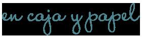 En caja y papel Logo