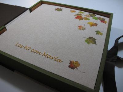 Álbum con caja para cumpleaños