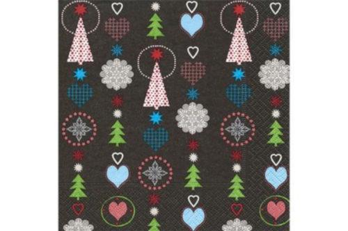 Servilleta Árboles Navidad