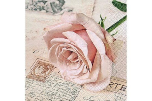 Servilleta Rosa Tarjeta Postal
