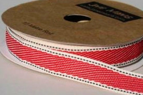 Grosgrain denim rojo
