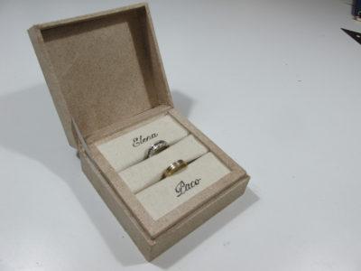Caja para anillos boda