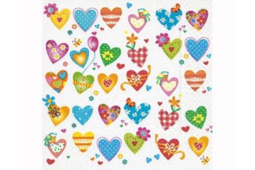 Servilleta corazones