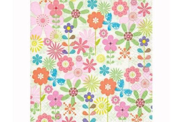 Servilleta Flores Multicolores