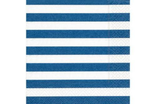 Servilleta rayas azules