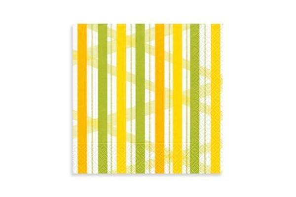 Servilleta rayas amarillas